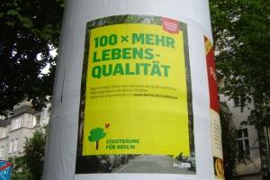 Der Berliner Senat für Stadtewntwicklung und Umwelt wirbt für Baumspenden